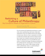 Rethinking a Culture of Philanthropy: Key Concepts to Assess an Organization&#8217;s Culture